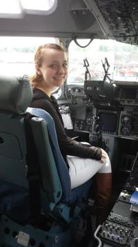 In the pilots seat